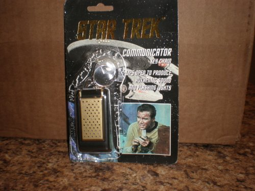 Star Trek Communicator KeyChain Key Chain With Flashing Lights and (Star Trek Communicator Keychain)