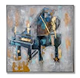 "In Liu Of Modern Oil Painting ""Harmonious"" (Fine Acrylic Piano Art) Hand-Painted, Contemporary Décor 