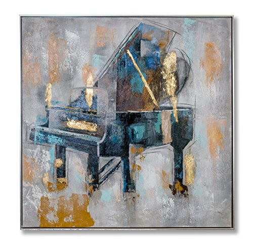 "In Liu Of | Modern Oil Painting ""Harmonious"" (Fine Acrylic Piano Art) Hand-Painted, Contemporary Décor 