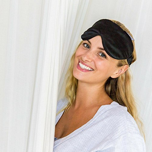 Swanwick Sleep 100% Pure Silk Eye Mask for Sleeping – Oversized Luxury Eye Mask to Banish Light for Traveling, Meditation, Afternoon Naps, Shift Workers