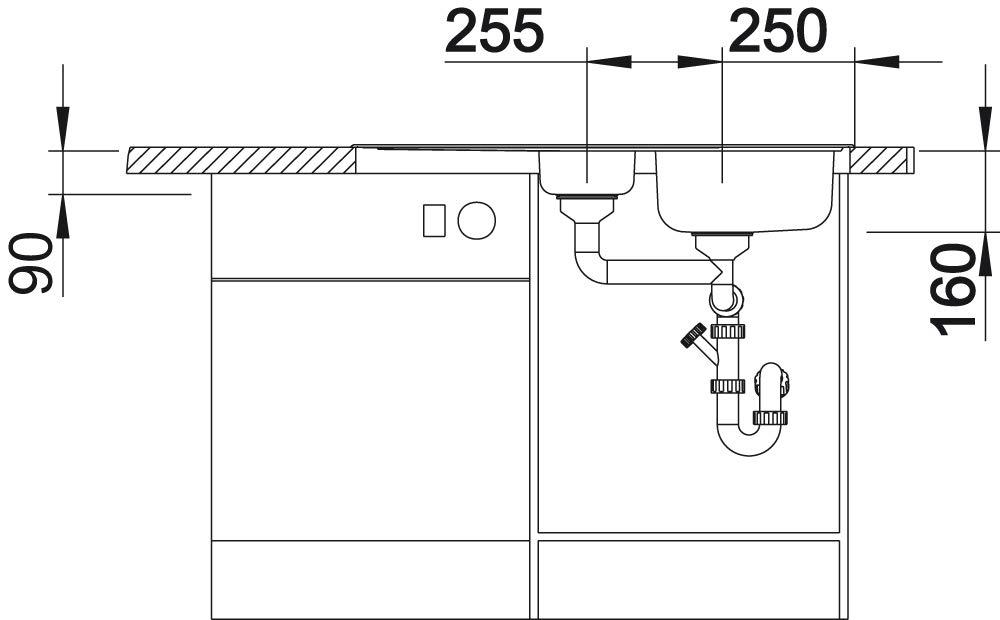 finition acier inoxydable Brosse BLANCO lanis 6/S /évier de cuisine 516049