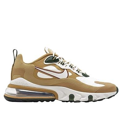Nike Air Max 270 React Sneakers Beige Bianco Nero AO4971 700 (43 Beige)