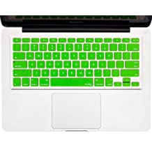 "Kuzy - GREEN Keyboard Cover Silicone Skin for MacBook Pro 13"" 15"" 17"" (with or w/out Retina Display) iMac and MacBook Air 13"" - GREEN"