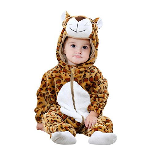 Costumes For Babies In Carriers (Vovotrade Toddler Newborn Bodysuit Baby Boys Girls Hoodies Animal Cartoon Rompers Outfits Clothes (12M, Brown))