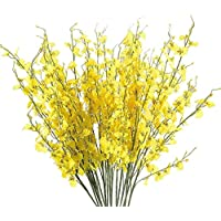 Artificial Flowers, MaxFox Fake Oncidium Bouquet Orchid Phalaenopsis Bouquets Home Office Wedding Party Decor