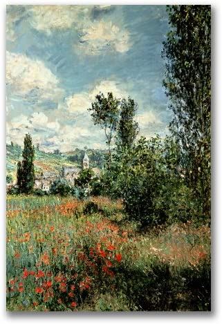 Path Through The Poppies By Claude Monet 22x32 Inch Canvas Wall Art Prints Posters Prints