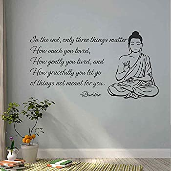 Superior BATTOO Indian Buddha Wall Decal Sticker   Only Three Things Matter  Religious OM Yoga Wall Art