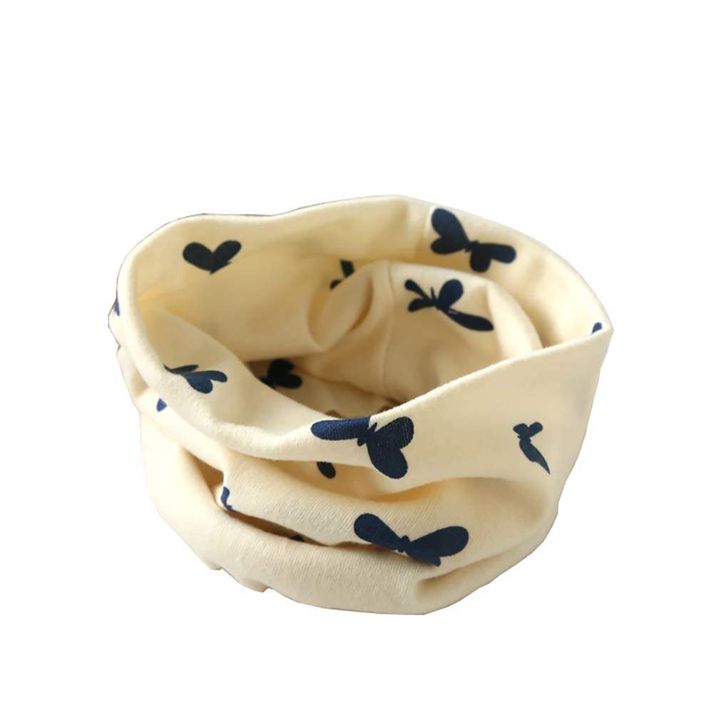 bandana per bambini fazzoletto da collo o sciarpa ad anello con motivo con farfalla Tukistore Sciarpa scaldacollo a stelle per bambini in cotone