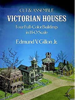 Build a christmas village paper houses to make and decorate for the cut assemble victorian houses cut assemble buildings in h o fandeluxe Images