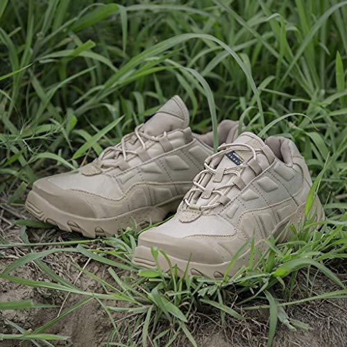 HJHHJHAB Bottes de l'armée Tactique Hommes Chaussures de Sport Basses imperméables Chaussures de randonnée en Plein air… 7
