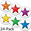 StoreSMART - Star Magnets Rainbow 24-Pack - 4 of each color - STAR125-VP-24
