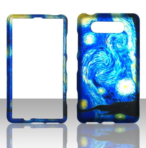 Nokia Blue Phone Faceplates (2D Blue Design Nokia Lumia 820 AT&T Case Cover Hard Phone Case Snap-on Cover Rubberized Touch Protector Faceplates)