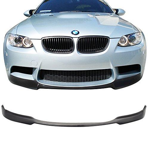 Front Bumper Lip Fits 2008-2013 BMW E92 E93 E90 M3 Series Coupe Sedan | AC-S Style PU Black Front Lip Spoiler Splitter by IKON MOTORSPORTS | 2009 2010 2011 2012