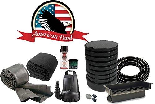Pond Kit American (American Pond Freedom Series Medium Pond Free Waterfall Kit with Stream)