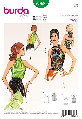Burda Sewing pattern 6968 Burda Style Vintage Stylish, feminine retro-look ()