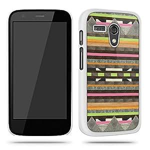 Aztec Tribal Pattern Fashion 12 Phone Case Shell for Motorola Moto G - White