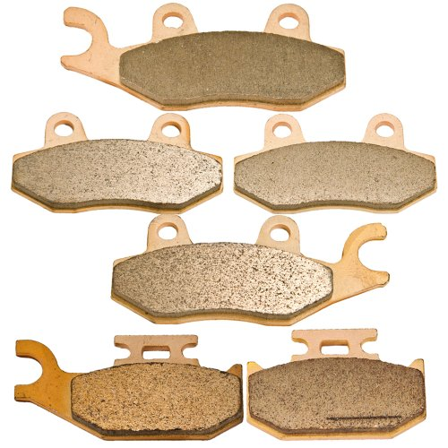 Front and Rear Sintered Brake Pads for Yamaha YXR 660 Rhino 2004-2007