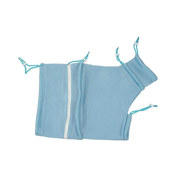 Adorrable Cat Grooming Bag Shower Mesh Bags Restraint for Bathing Injecting Examining Nail Trimming, Blue, 19.3/13.8″ Click on image for further info.