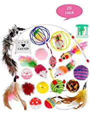 Cat Toy Set,Cat Toys for Indoor Cats,20PCS Cat Toy Teaser Wand Best Cat Toys For Exercise