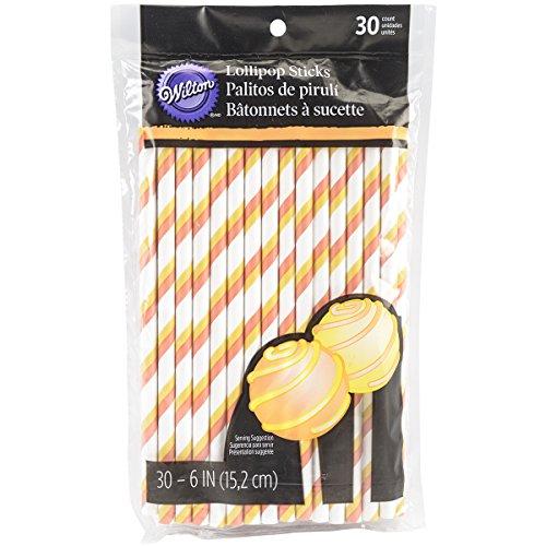 Wilton 1912-5913 Candy Corn Striped Lollipop Stick, Assorted -
