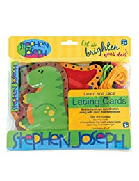 Stephen Joseph Lacing Cards, Dinos BOBEBE Online Baby Store From New York to Miami and Los Angeles