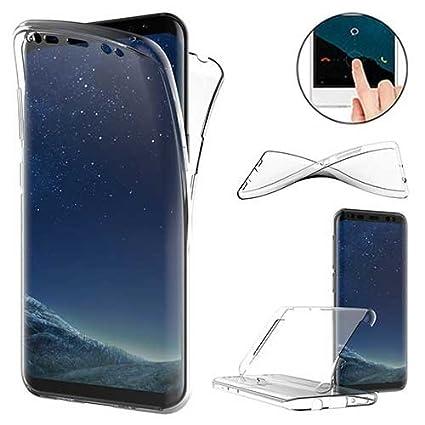 XCYYOO Funda para Samsung Galaxy S8 Silicona,Carcasas para Samsung Galaxy S8, [Carcasa Protectora 360 Grados Full Body]e Suave Ultrafina Gel Silicona ...