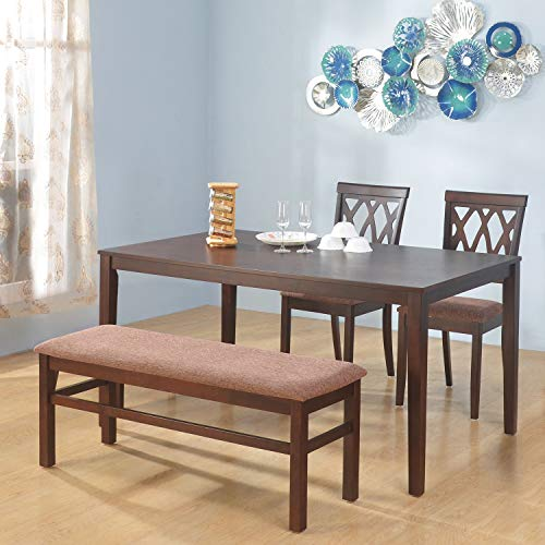 @home by Nilkamal Peak 1 + 2 + Bench Dining Set  Cappucino
