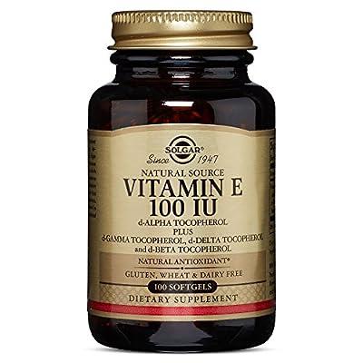 Solgar - Vitamin E 100 IU Mixed (d-Alpha Tocopherols & Mixed Tocopherols) 100 Softgels