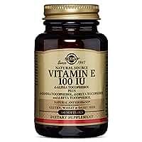 Solgar - Vitamin E 100 IU Mixed Softgels (100 IU d-Alpha Tocopherol & Mixed Tocopherols) 100 Count