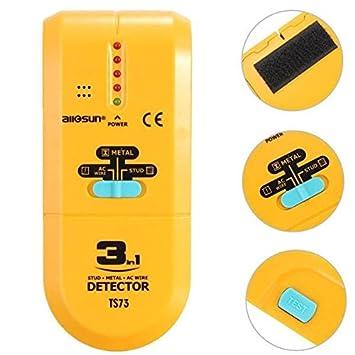 Doradus 3 en 1 tubo detector de cables Cable de CA Tachuelas Metal madera vigas Finder: Amazon.es: Electrónica