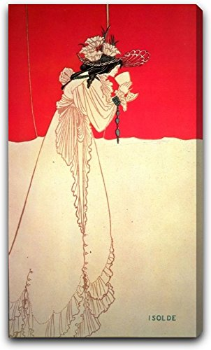 "Isolde by Aubrey Beardsley - 17"" x 29"" Gallery Wrapped Canvas Art Print - Ready to Hang"