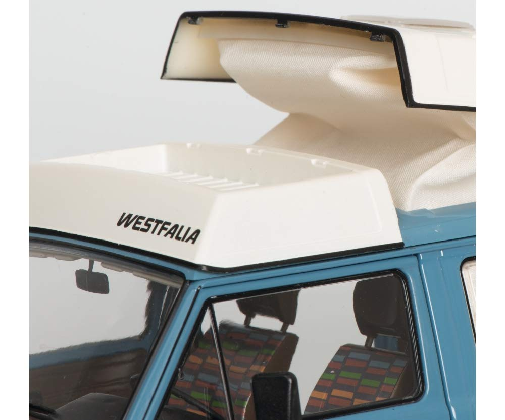 Volkswagen T3 Westfalia Joker Camping Bus with Folding Roof Blue Limited Edition to 1,000 Pieces Worldwide 1//18 Diecast Model by Schuco 450038700