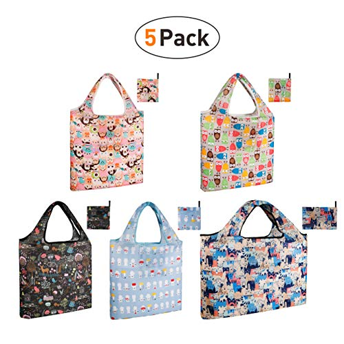 Reusable Grocery Shopping Box Bags, Folding Cloth Shopping Tote and Mesh Bag, Durable and Eco Friendly