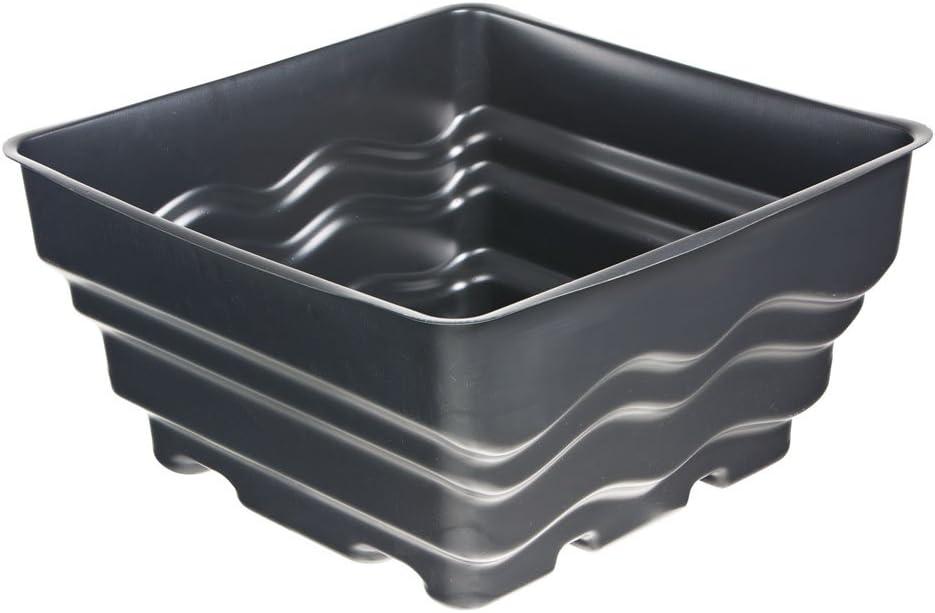 Heissner - Estanque prefabricado, 58 x 58 x 30 cm, Color Negro