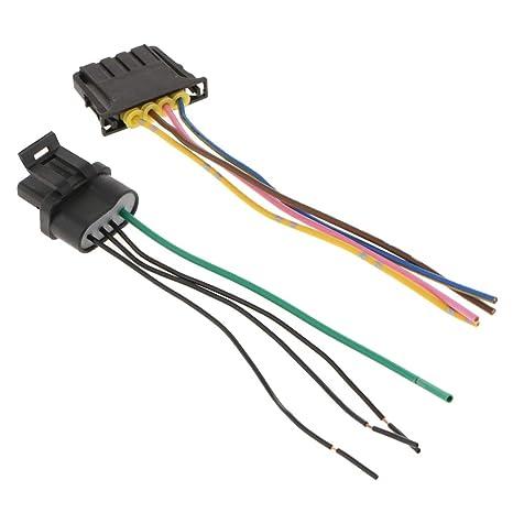 perfk Zócalo de Bombilla de Faro Trasero Cableado + Conector de Encendido para Auto