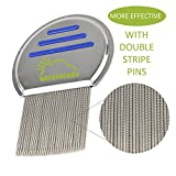 Head Lice Removal Comb - Stainless Steel Nit Free Fine Tooth Metal Comb - Remove Head Lice and Nits For Adults & Kids (6 Pack)