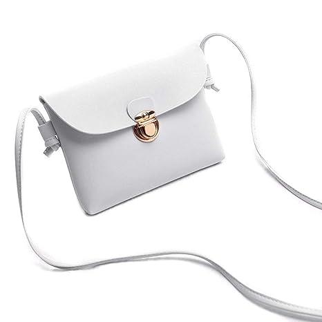 Abilieauty Mujer Cruzado Leather Color Sólido Bolsa de ...