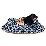 Navy Blue Links Extra Large Rectangle Indoor Outdoor Pet Dog Bed With Removable Washable Cover By Majestic Pet Products