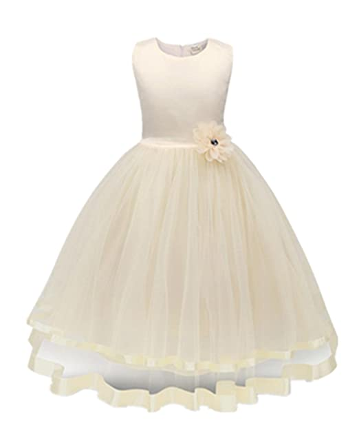 Mädchen kleid,Honestyi Mädchen Kleider High-End-Kleid einfarbig ...