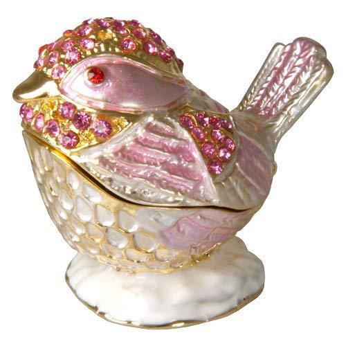 (Memorial Gallery Colorful Bejeweled Bird Keepsake Box (Shades of Pink))