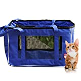 Sanzang Soft-Sided Pet Travel Carrier Porable Tote Bag for Cats, Small Animals, Dogs, Teddy (L)
