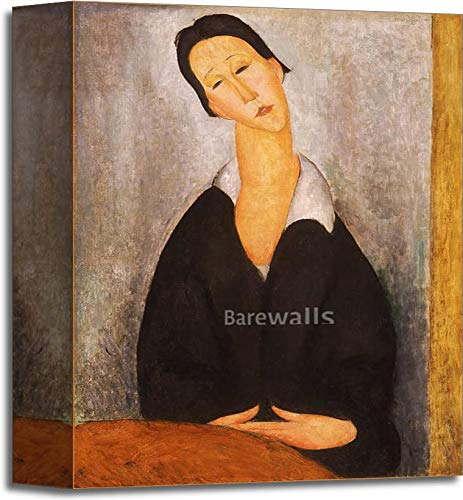 Barewalls Portrait of A Polish Woman by Amedeo Modigliani Gallery Wrapped Canvas Art (10 in. x 8 in.)