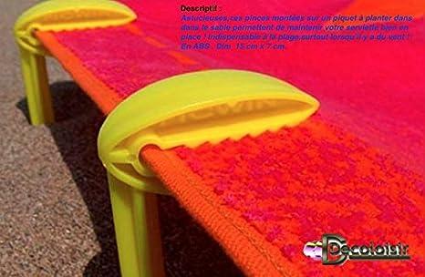 Pinzas-Toalla DE playa, diseño DE pico WIN, color verde: Amazon.es: Hogar