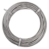Yeexue Stainless Steel Aircraft Wire Rope Cable For Railing, Decking, DIY Balustrade, 1/8'', 316 Grade, 1x19, 100ft