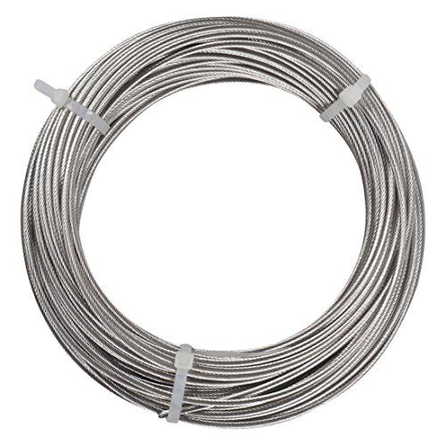 Yeexue Stainless Steel Aircraft Wire Rope Cable For Railing, Decking, DIY Balustrade, 1/8