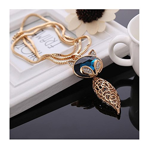 Yuriao Jewelry Diamond Accented Crystal Fox Statement Necklace£¨golden - Clearance Sunglasses Kohl
