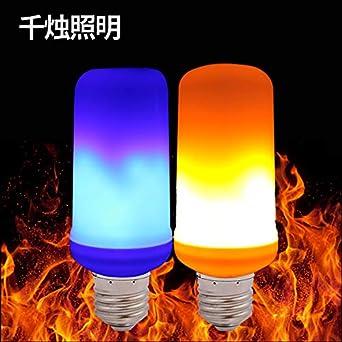 Bombilla de llama led barra de tornillo antorcha de llama de jardín luz de llama, 3, luz azul: Amazon.es: Iluminación