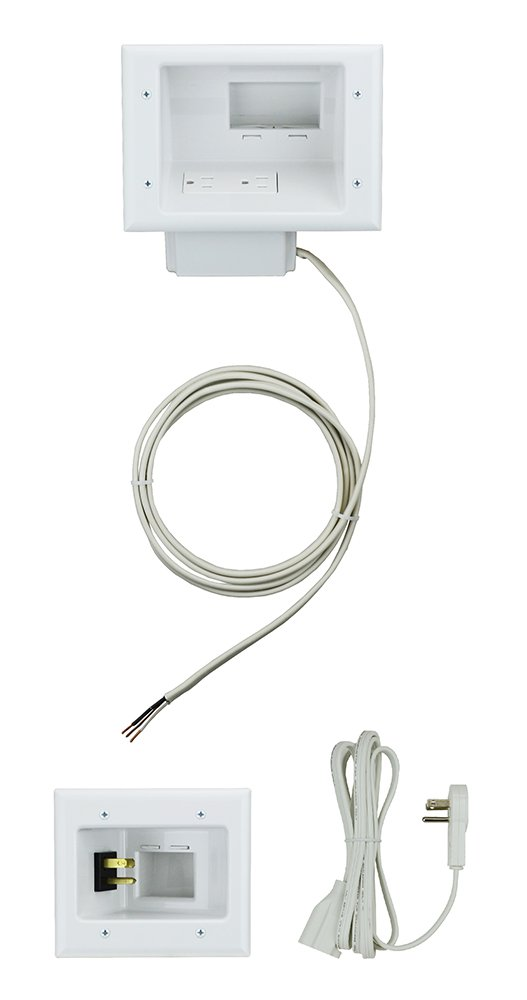 behind wall cable management amazon com rh amazon com hiding tv wires kit tv mount wiring kit