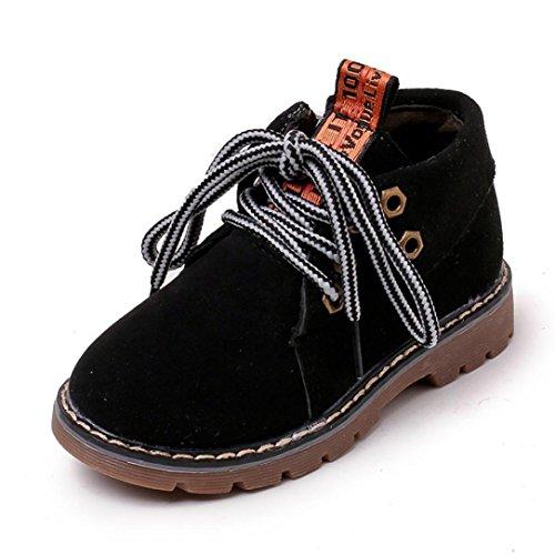 Martin Schuhe Jamicy® Winter heiße Verkaufs Retro PU Stiefel klassische Schnürsenkel Schuhe rutschfeste halten warme Sport Freizeit schuhe Für Jungen mädchen Schwarz