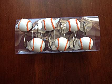 Baseball Shower Curtain Hooks